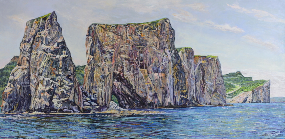 Percé Rock from the Gulf of St. Lawrence